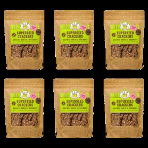 Original garlic & rosemary crackers 6 pack